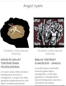 Angol nyelvű témacsomagok