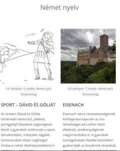 Német nyelvű témacsomagok